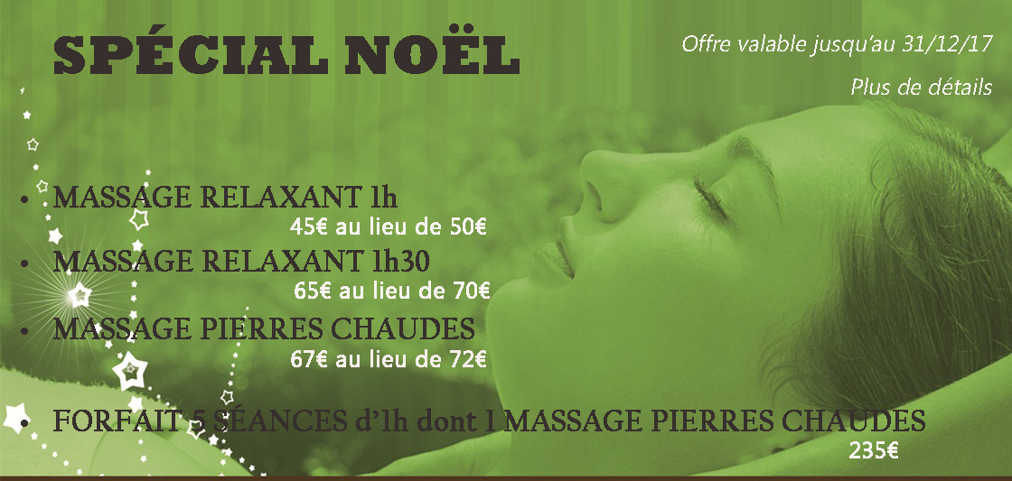 image promotion noel massage
